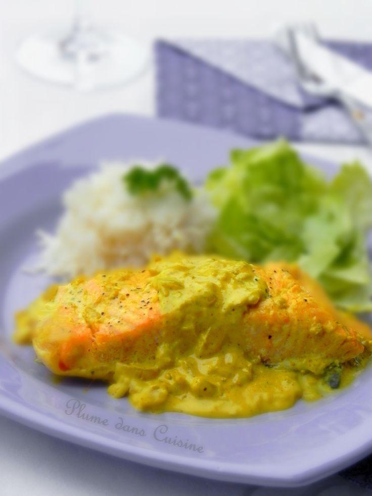 Saumon au lait de coco et curry