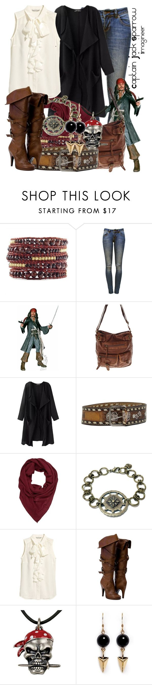 """Captain Jack Sparrow (Pirates of the Caribbean)"" by claucrasoda ❤ liked on Polyvore featuring Chan Luu, Anine Bing, Repeat, H&M and Joomi Lim"