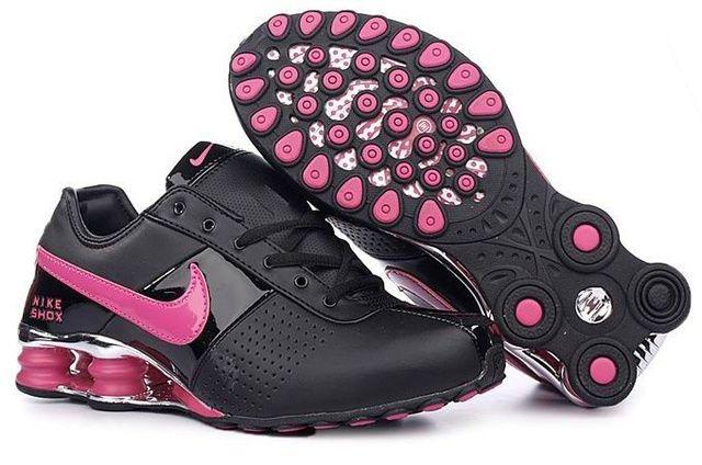 Svart Rosa Kvinna Nike Shox OZ Skor 84547 Rea