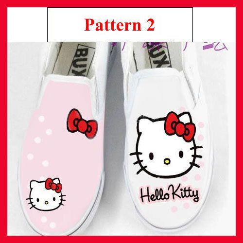 hello kitty shoes  HandPainted Women Girl's by michellehandpainted, $29.99