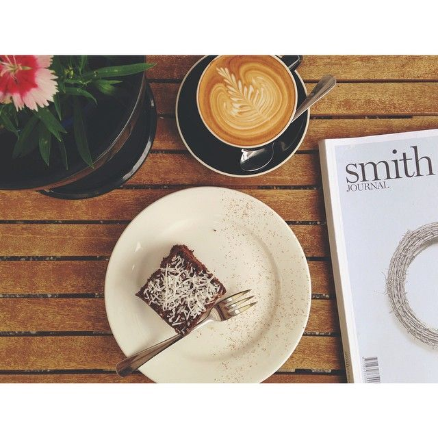 It's a coffee, blackbean brownie & #organicfood #rainydaze #buderim #visitsunshinecoast Pic by: the shark organic cafe