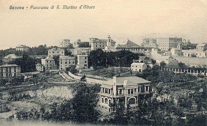SAMPIERDARENA - S. Martino d'Albaro - FOTO STORICHE CARTOLINE ANTICHE E RICORDI DELLA LIGURIA