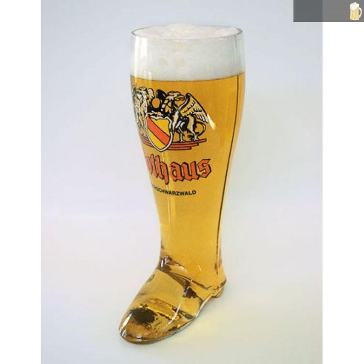 Rothaus Bierstiefel   2L - auf Schwarzwald-Bier-Fanshop.de, dem Shop für Fanartikel der bad. Staatsbrauerei Rothaus AG, sowie der Waldhaus Brauerei., 29,90 €