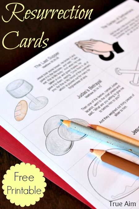 Easter Resurrection Story Cards Free Printable - plus activities to play!
