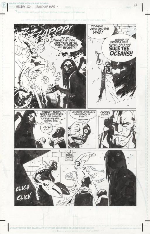 Hellboy Jr - Mike Mignola Comic Art