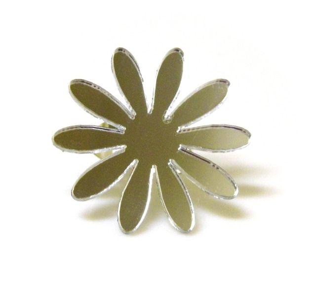 Ringen - Ring spiegel bloem - Een uniek product van Katzoo op DaWanda