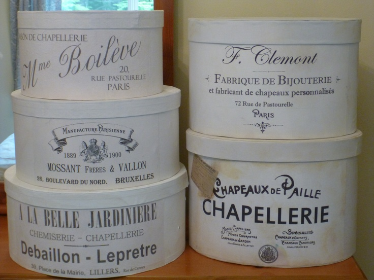 French hat boxes  can't have the old ones, so I made my own :)
