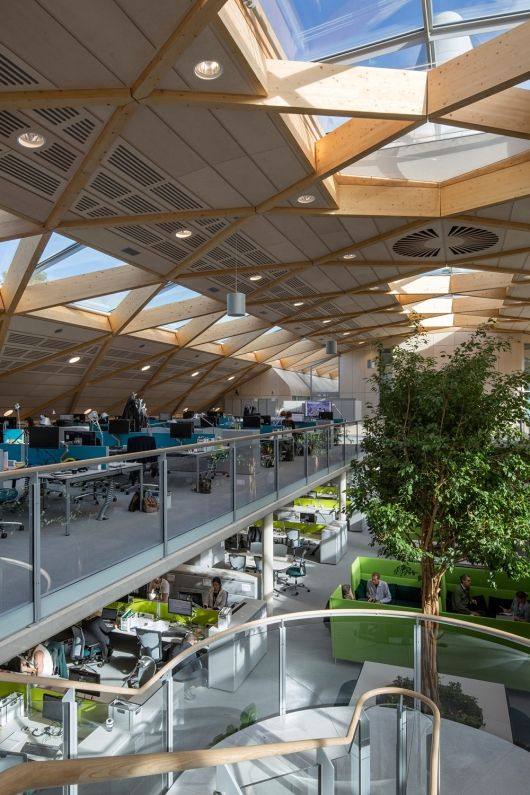 The LEAF Awards 2014 shortlist | Shortlisted for Commercial Building of the Year: Hopkins Architects Partnership LLP for Living Planet Centre, WWF-UK Headquarters in Woking, UK. Photo courtesy of LEAF Awards | Bustler