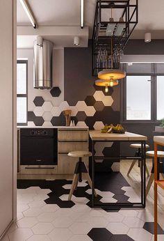 Un pequeño apartamento con toques industriales (y muy masculino) · A small…