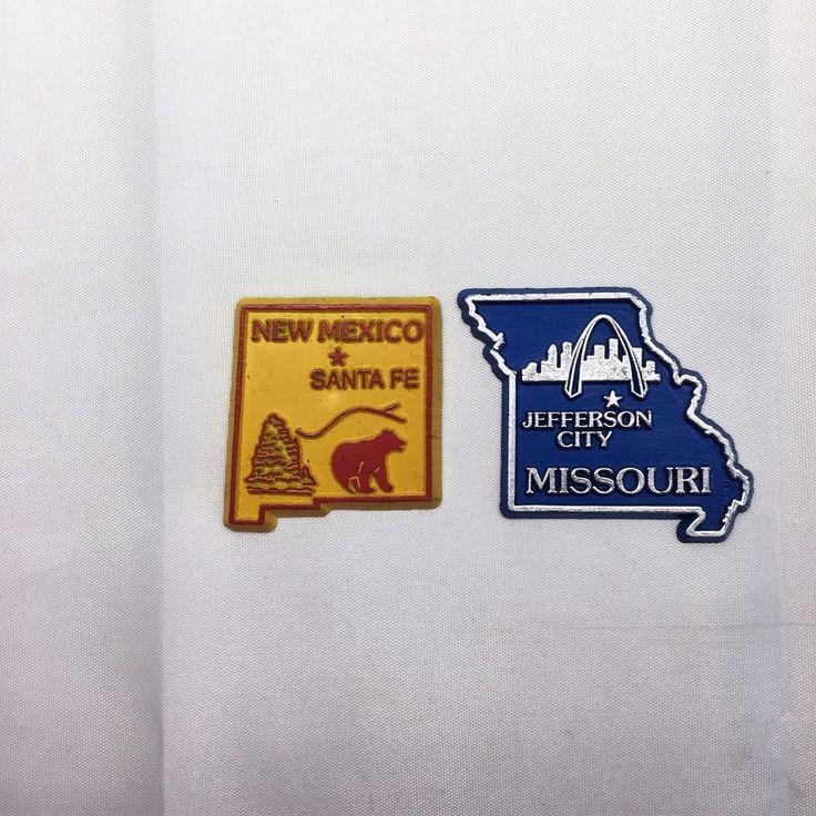 Missouri and New Mexico State Map Fridge Magnets New Mexico Jefferson City GUC #Missouri #JeffersonCity #NewMexico #SantaFe #fridgemagnets #refrigeratormagnets