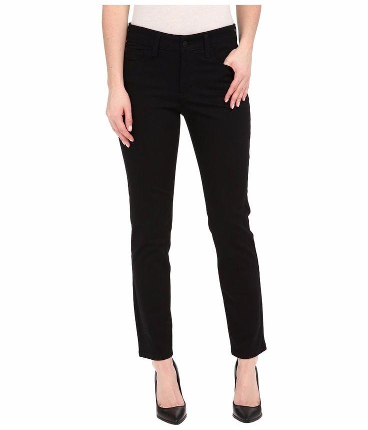 NYDJ Clarissa Skinny Ankle Fine Line Twill in Black Women's High Rise Jeans 6