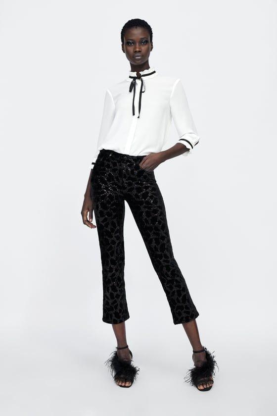 6087d76405e16d BLUSA LAZO in 2019   zara   Blouse, Zara women, Blouses for women