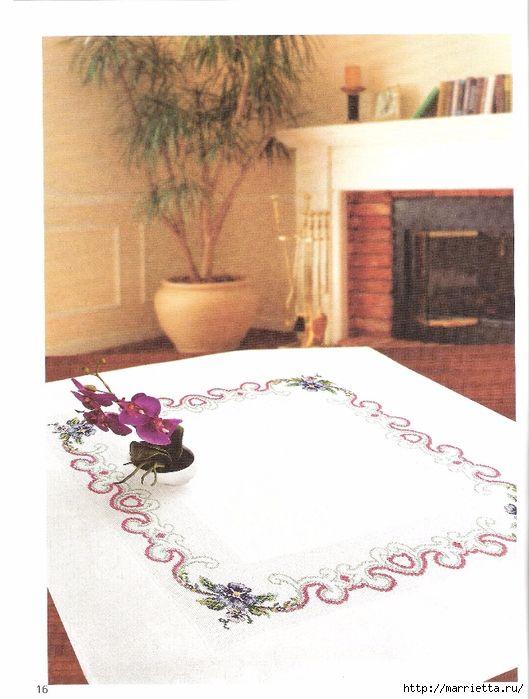 цветочная вышивка на скатерти. схемы (1) (529x700, 252Kb)