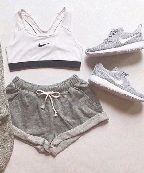 New Nike Pro Workout Outfit | Cute Fitness Apparel for Women Shop @ FitnessApparelExpress.com