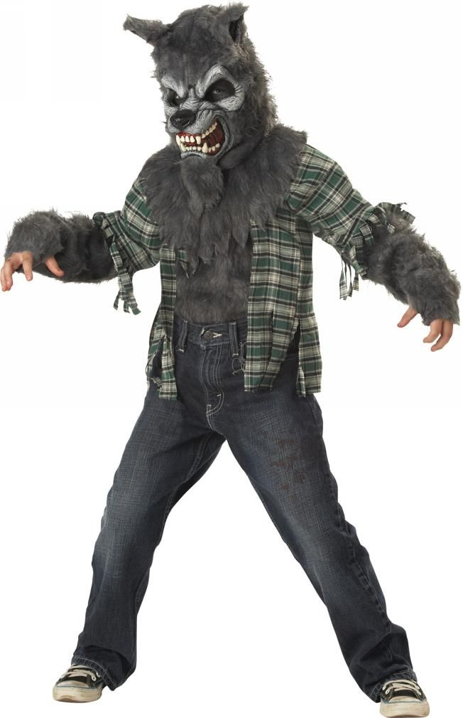 Howling At Moon Werewolf Costume Child
