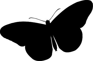 Butterfly Silhouette Clip Art (Not Free)