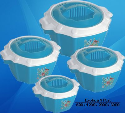 #TrinityPlast #Exotica #4Pcs #Plastic #Casserole #Hot #Pot #Supplier #Traders #Manufacturer
