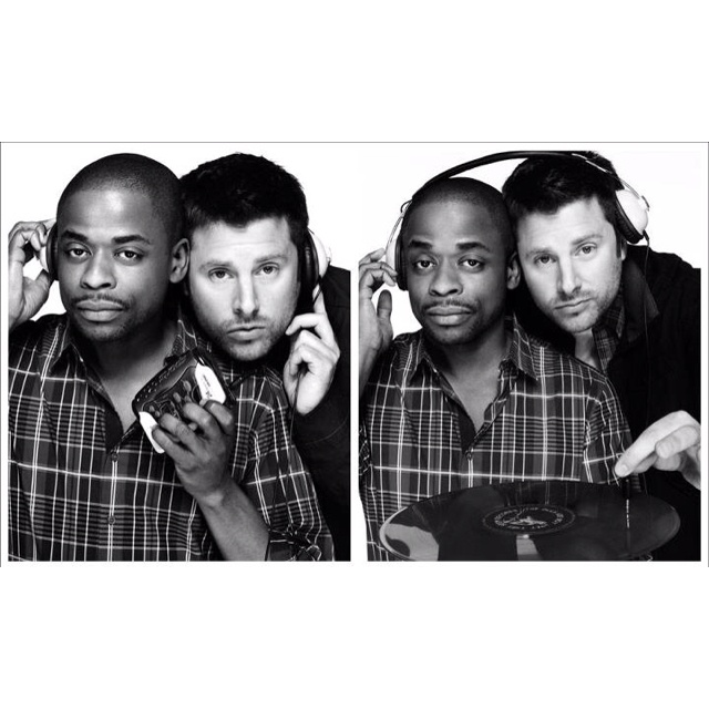 James Roday and Dulè Hill(:: James Of Arci, James Roday, Favorite Tv, Psych Things, Dule Hill, Awesome People, Dulè Hill, Beautiful People, Shawn And Gus