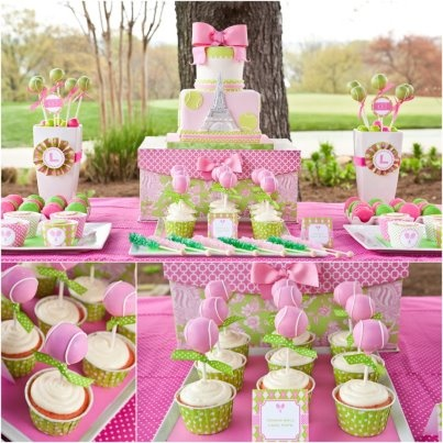 Pink And Green Party Food Google Search Twins 1st Birthday