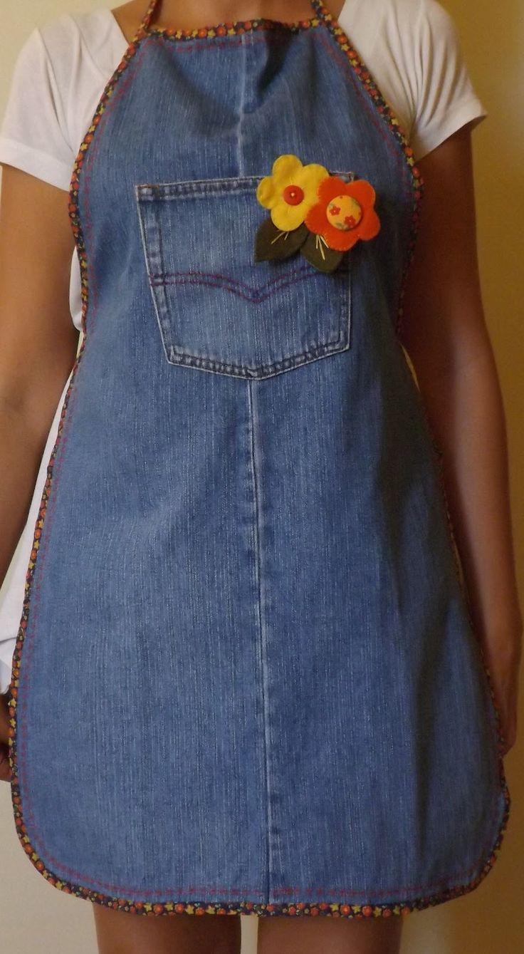 Aparador Extensivel Kane ~ 17 melhores ideias sobre Aventais De Jeans no Pinterest Aventais, Denim reciclado e Artesanato