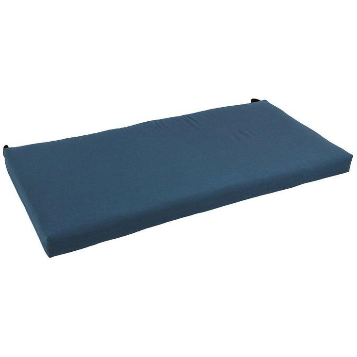 Blazing Needles Solid Twill Indoor Bench Cushion Tangerine Dream - 945X19-TW-TD