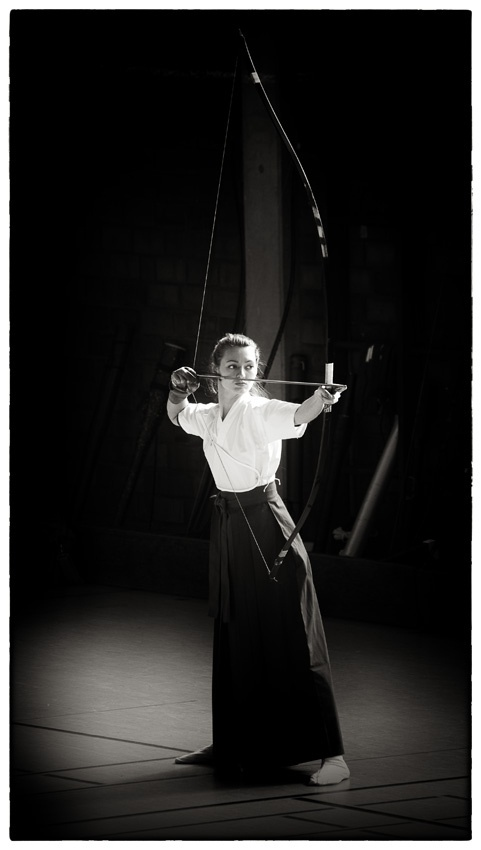 Kyudo: 弓道 is Japanese styled Archery. One of the Samurai quality.