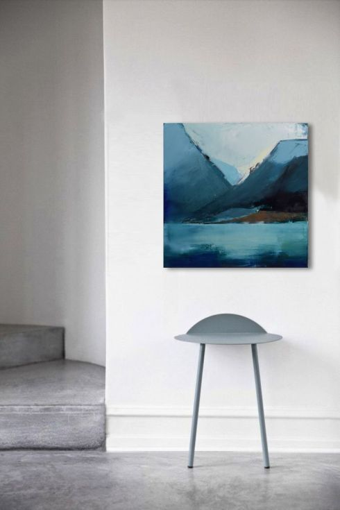 "Buy Oil painting, canvas art, stretched, ""Mountain 18"". Size  27,6/ 27,6 inches (70/70cm), Oil painting by Karina Antończak on Artfinder. Discover thousands of other original paintings, prints, sculptures and photography from independent artists."