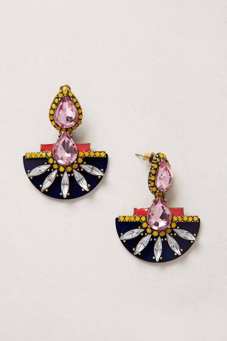Etruscan Petal Earrings, By BaubleBar x Anthropologie Glass, acrylic, metal, resin