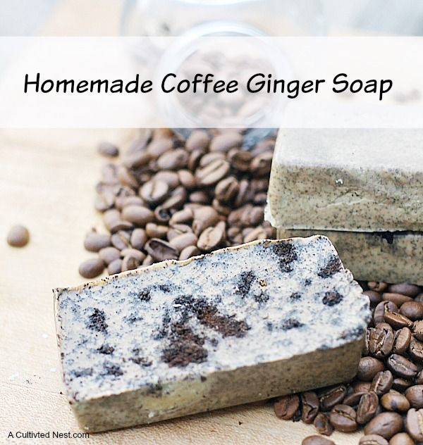 Easy To Make Coffee Ginger Soap. Diy SoapsHomemade ...