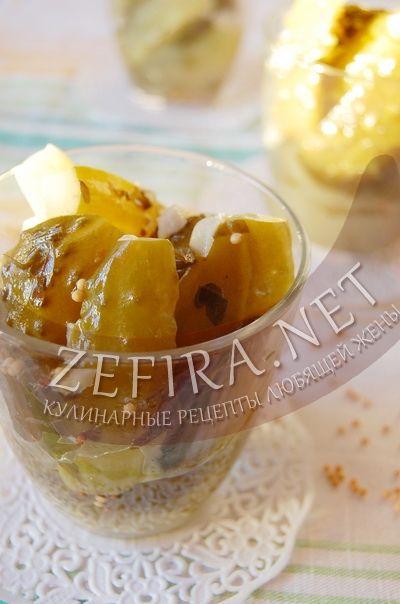 Салат из огурцов на зиму – рецепт с французской горчицей, петрушкой и чесноком-домашние рецепты с фото