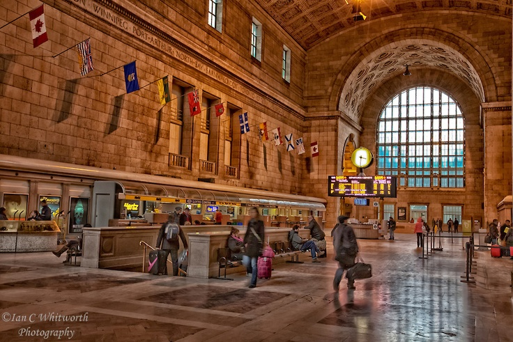 Inside Toronto's historic Union Station.