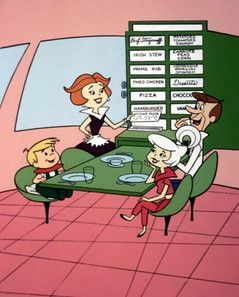 The Jetsons' Kitchen of the Future - sometimes when we run low on groceries I wish we had this option. Haha.