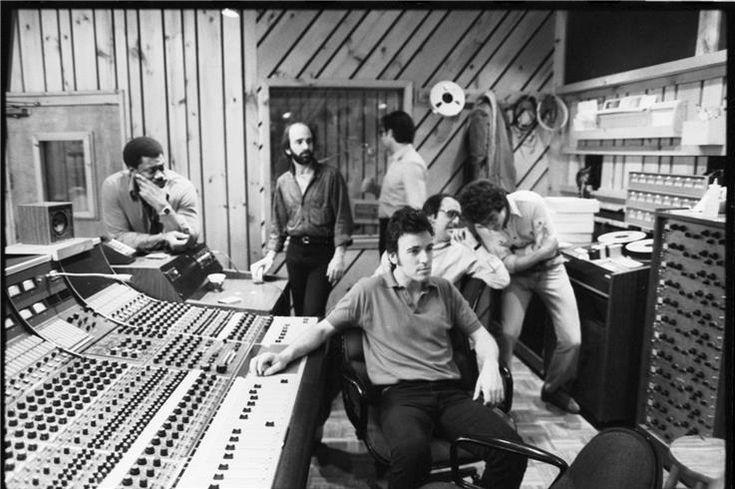 "Bruce Springsteen ""Studio"" Bruce and the E Street band recording the River album Photographer: David Gahr"