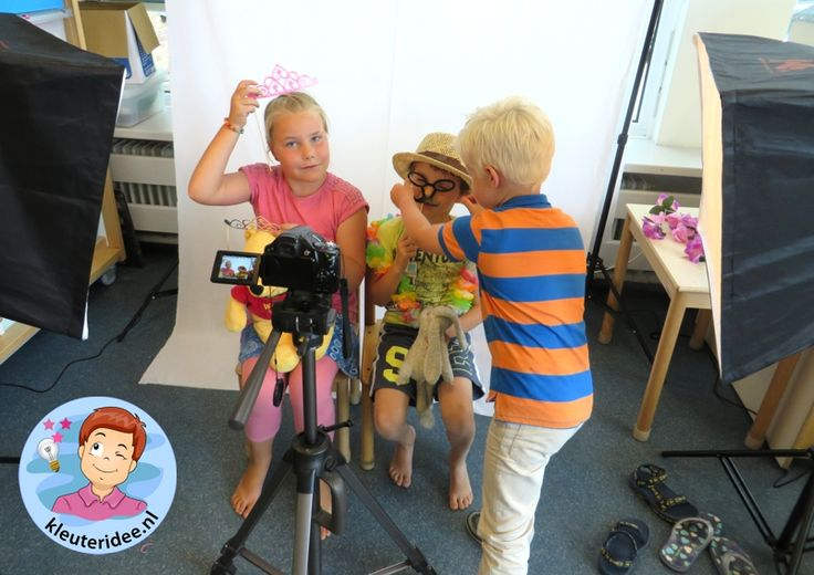 Themahoek en rollenspel thema 'de fotograaf', kleuteridee.nl, kindergarten photographer roleplay area, photographer theme 2