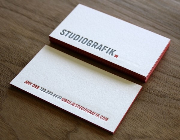 60 best business cards images on pinterest business cards carte studio graphik letterpress business cards reheart Choice Image
