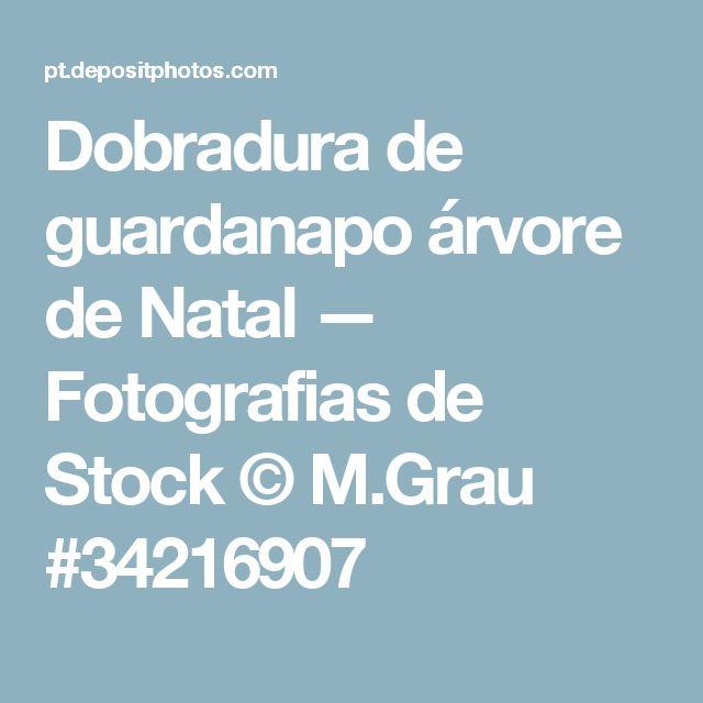 Dobradura de guardanapo árvore de Natal — Fotografias de Stock © M.Grau #34216907