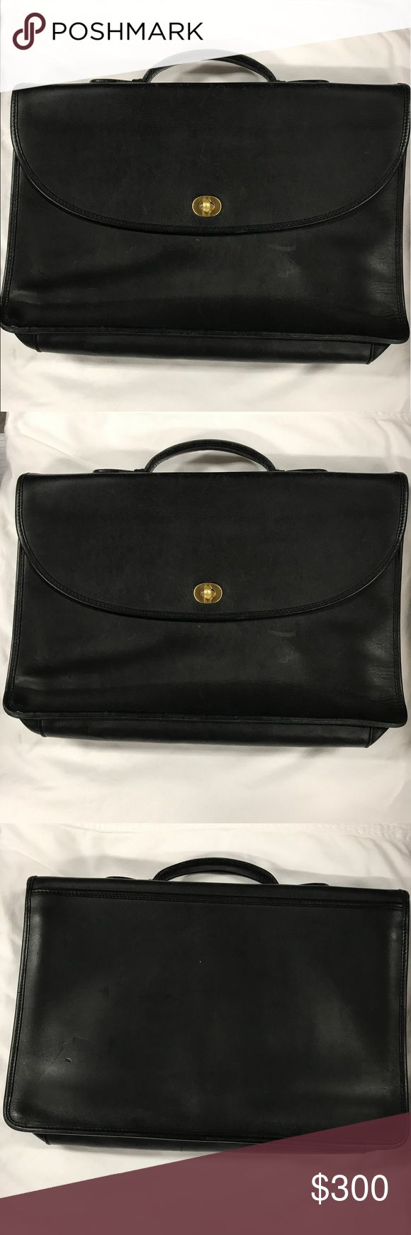 Coach briefcase Coach briefcase. Very nice leather. Very great condition Coach Bags Laptop Bags