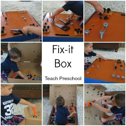 DIY Fix it Box- A great way to keep little builders busy! {Teach Preschool}