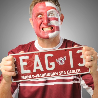 See the Manly Sea Eagles soar! Personalised plates now available from PPQ. #NRL