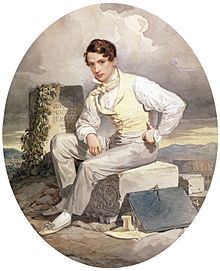 Alexander Brullov (self-portrait), 1830. Born in Saint Petersburg into a family of French artists: his great grandfather, his grandfather, his father and his brothers (including Karl Brullov) were artists.