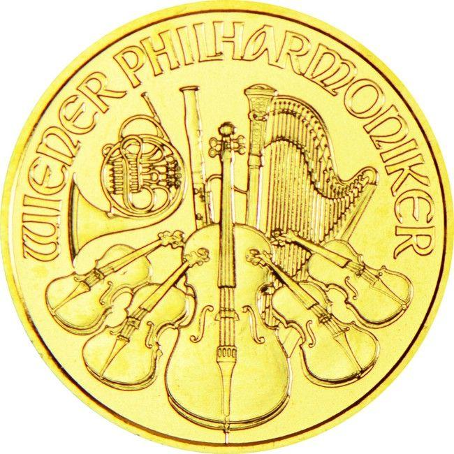Philharmoniker 1/10 Unze Gold 2015,  9999/10000 Gold