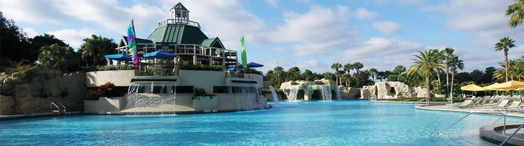 Marriott Orlando World Center, about 1 mile from Disney. Great place to stay! The girls LOVED the pool!