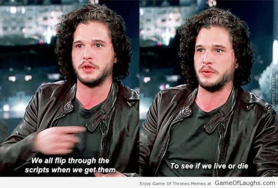 This is why the cast of Game Of Thrones is always scared