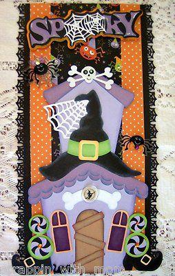 TOCG Pre Made Scrapbook Halloween Vertical Border FREE SHIPPING