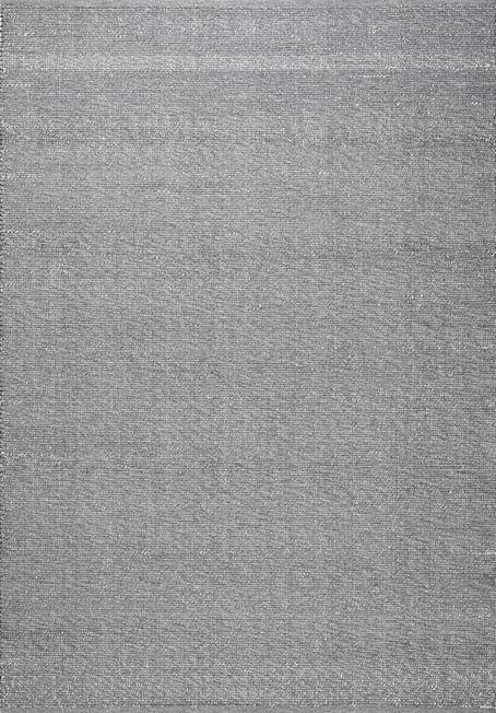 Blattschuss von Flachgewebe Teppich PULAU Grau