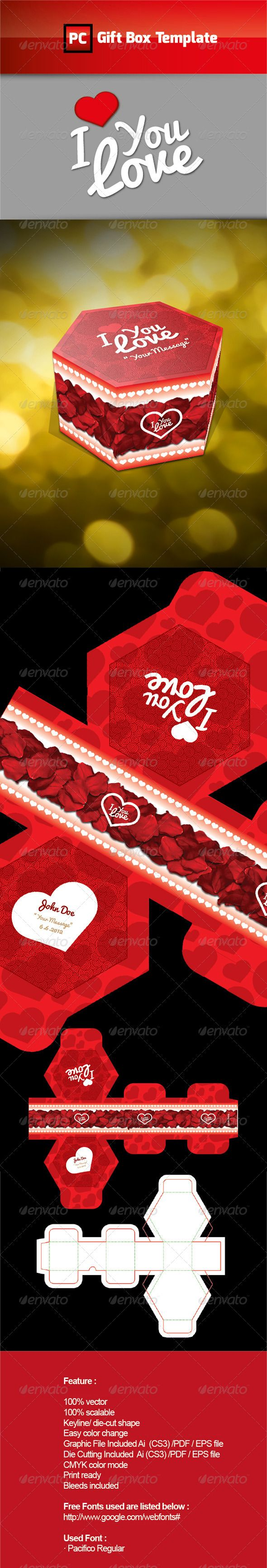 Cd box template download free vector art stock graphics amp images - I Love Gift Box Template