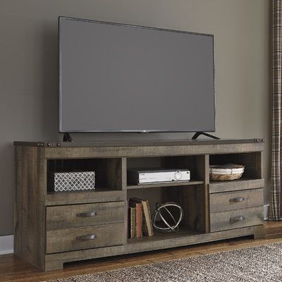 Signature Design by Ashley TV Stand with Fireplace Option