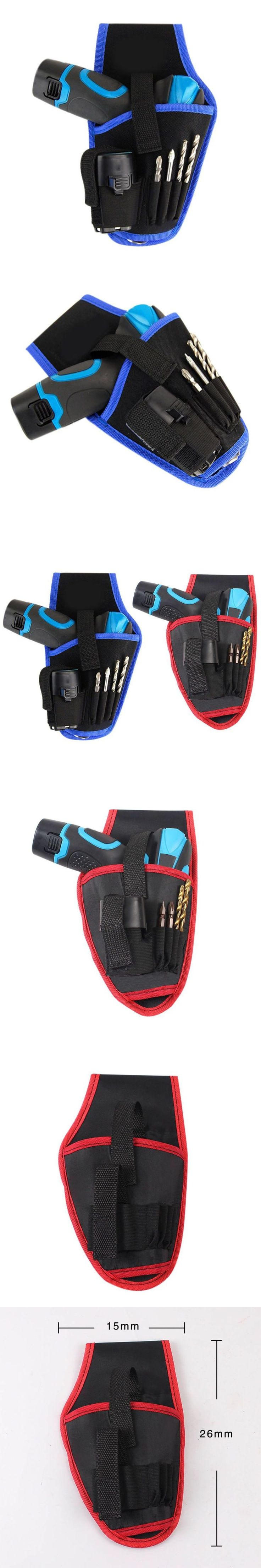 Drill Waist Tool Belt Bag Potable Drill Holder Cordless Tool Electric Drill Bag Red&Blue New Arrival