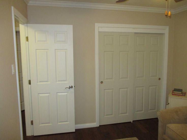 De 11 Bsta 2 Panel 2 Track Molded Panel Sliding Closet Doors