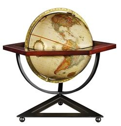 The 12-inch Frank Lloyd Wright Hexagon World Globe by Replogle stands 19.8 inches tall and is a beautiful marriage of American history and Replogles expert craftsman. You wont see another world globe like this anywhere else! #tabletopglobes #floorglobes #oldworldglobes #antiqueglobes #education #geography #teaching #vintage #toys